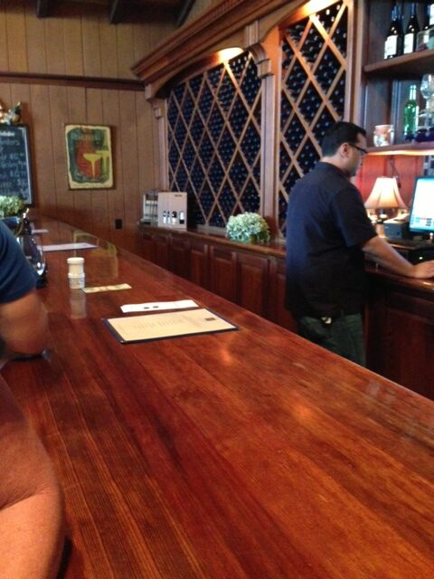 Wooden Valley Winery tasting bar