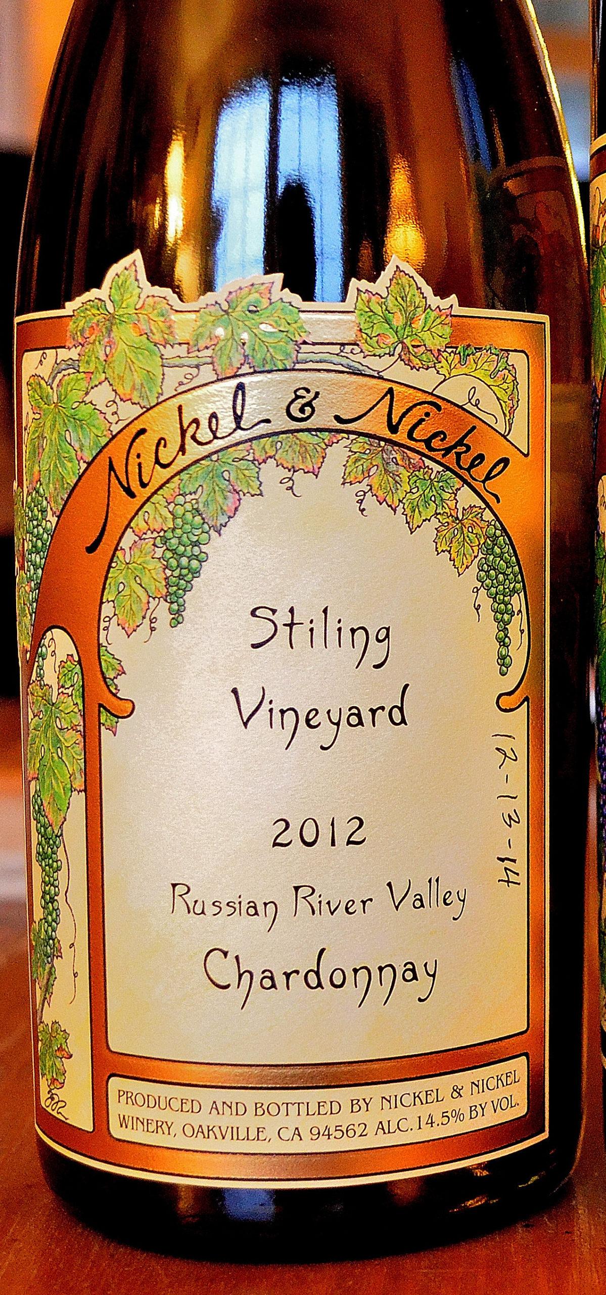 Nickel Nickel Stiling Vineyard 2012 RRV Chardonnay