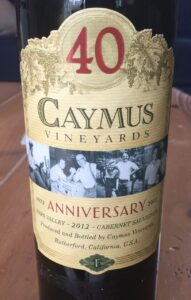 2012 Caymus Vineyards 40th Anniversary Cabernet Sauvignon