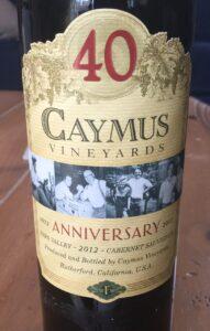 2012 Caymus Vineyards 40th Anniversary Cabernet Sauvignon