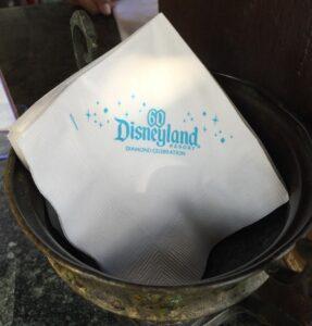 Disney California Adventure wine tasting napkins