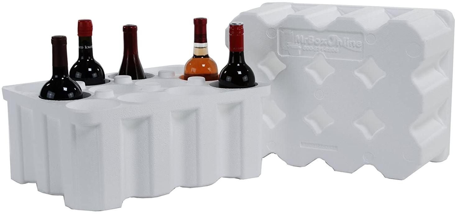 Styrofoam wine shipper