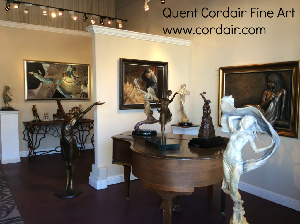 Quent Cordair Fine Art Gallery Nov 2014 with text