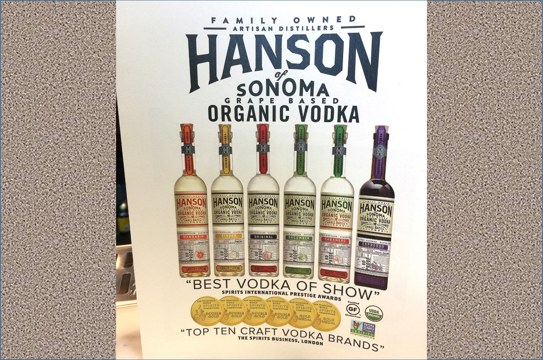 Hansons of Sonoma line of organic vodka Wine Adventure Journal