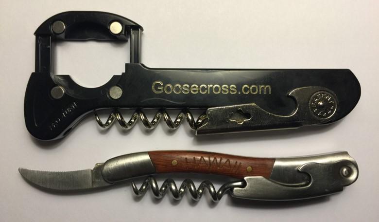 Two Corkscrews open
