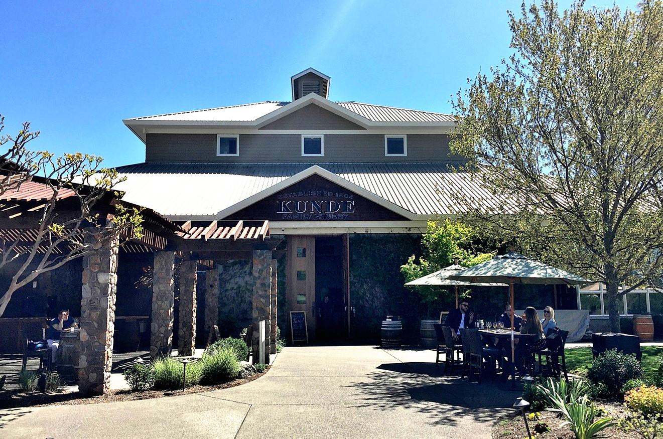 Kunde Family Winery tasting room entrance