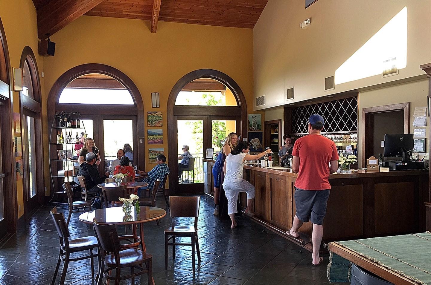 Hanna Winery tasting room