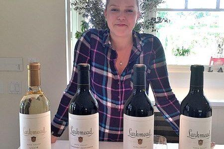 Larkmead Vineyards tasting flight wine hostess Jessica