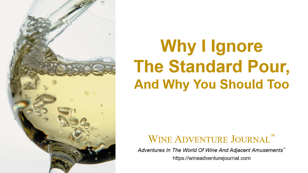Why I Ignore The Standard Pour and Why You Should To