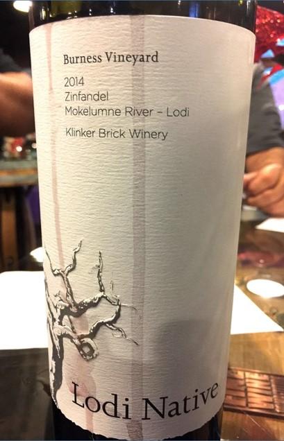2014 Klinker Brick Winery Lodi Native Zinfandel