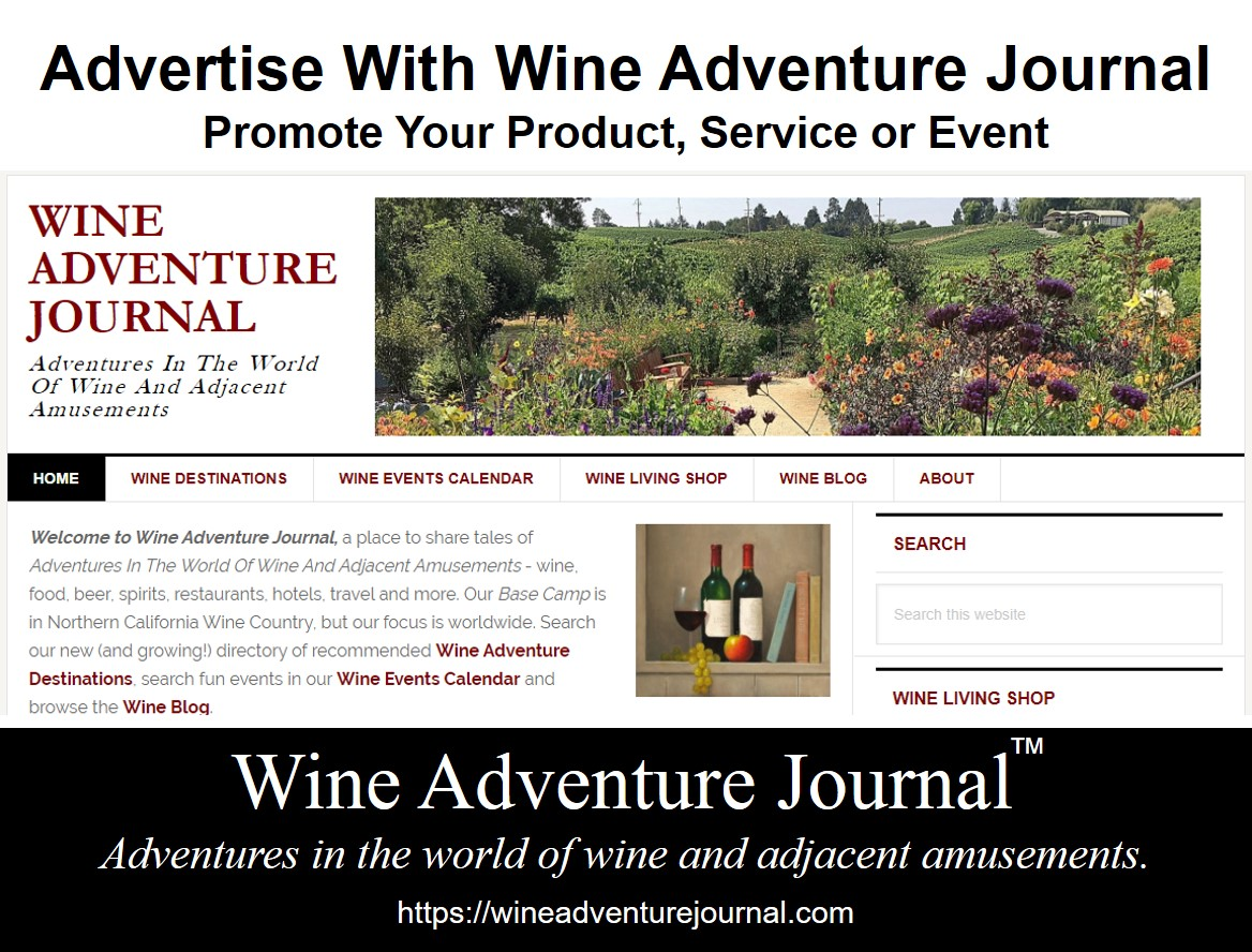 Wine Adventure Journal Advertising