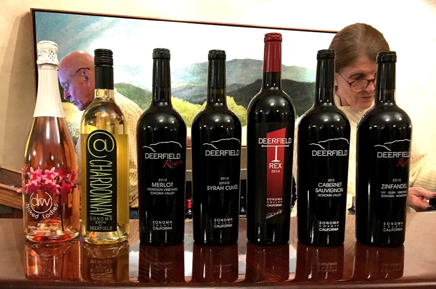 Deerfield Ranch Winery tasting flight