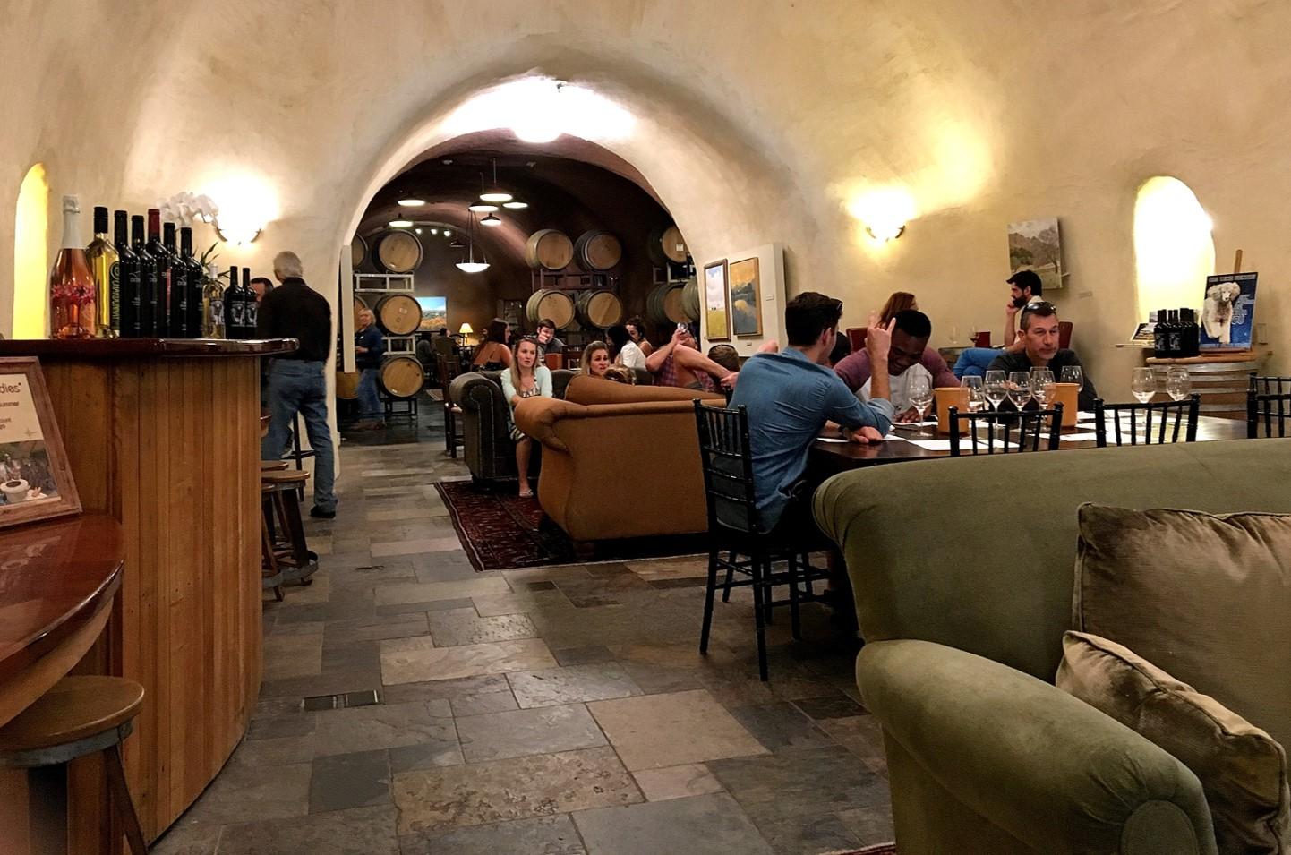 Deerfield Ranch Winery tasting room seating