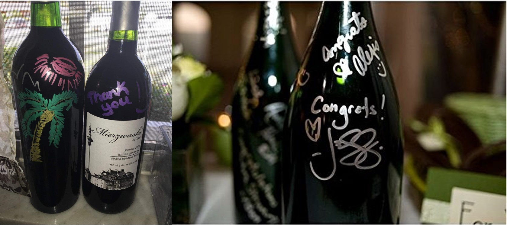 The Wine Glass Marker and bottle marker