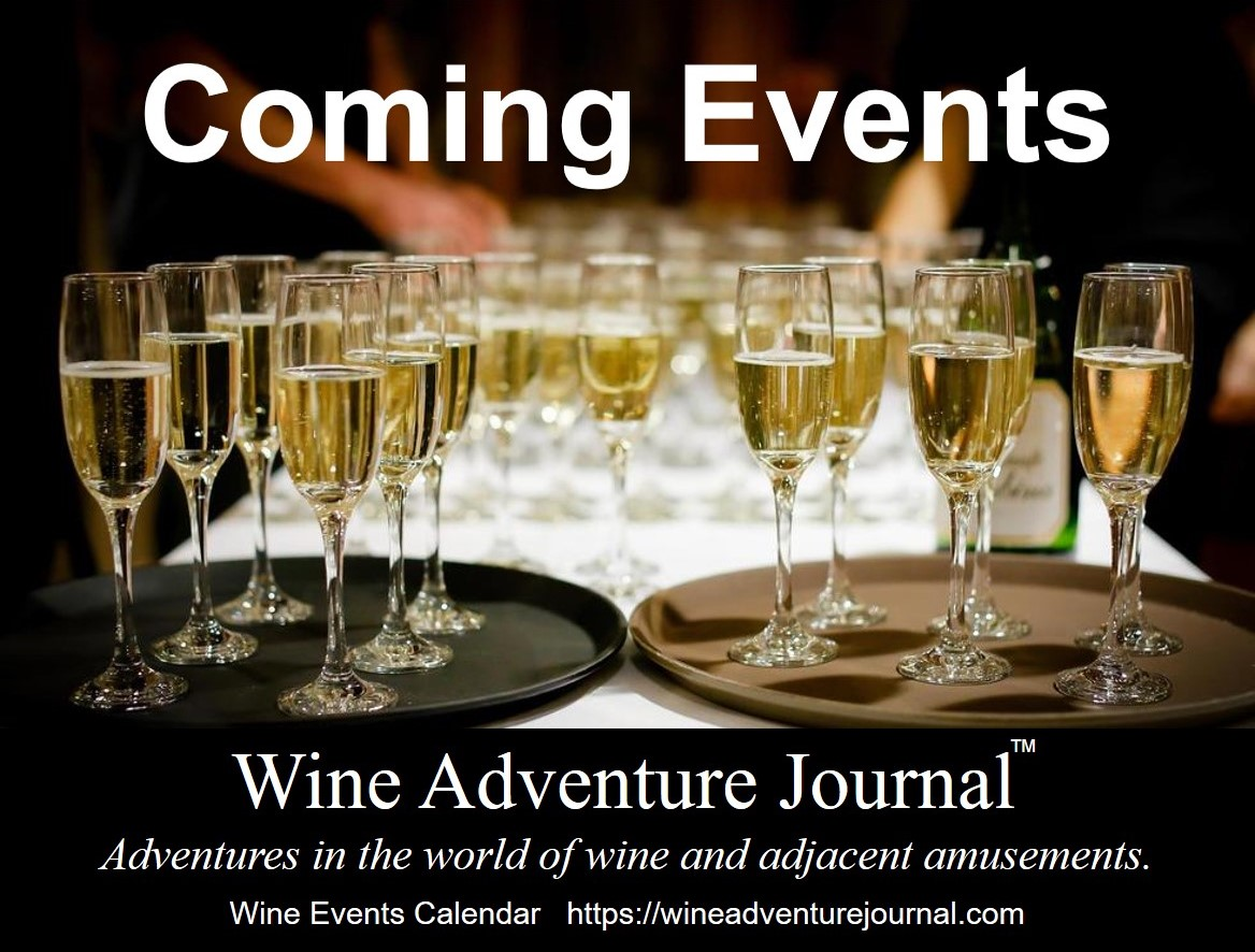Wine Events Calendar Coming Events Wine Adventure Journal