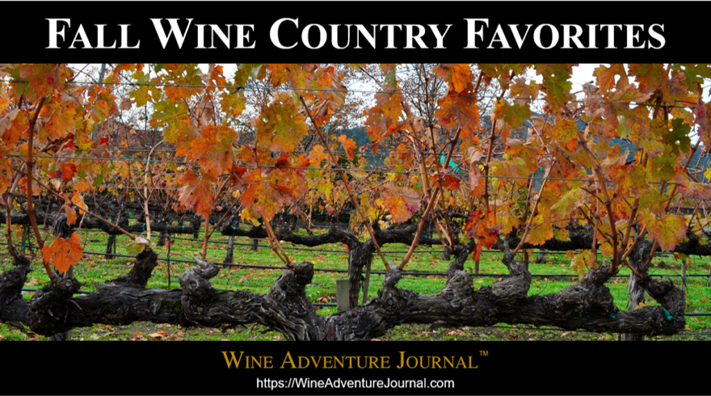 Fall Wine Country Favorites 2020