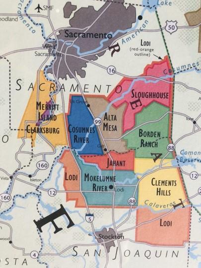 Lodi California area vineyard appellations