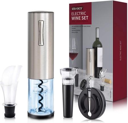 EZBasics Electric Wine Bottle Opener Set