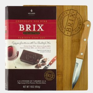 Brix Wine Chocolate Sampler with Cutting Board