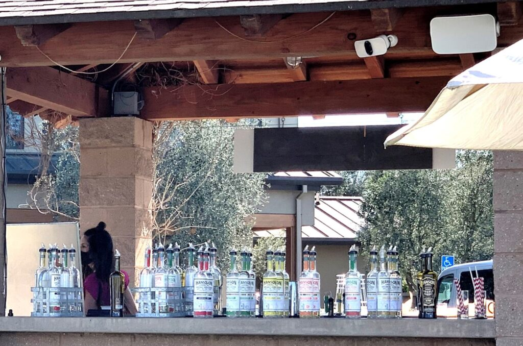 Lineup of flavored vodkas Hanson Of Sonoma
