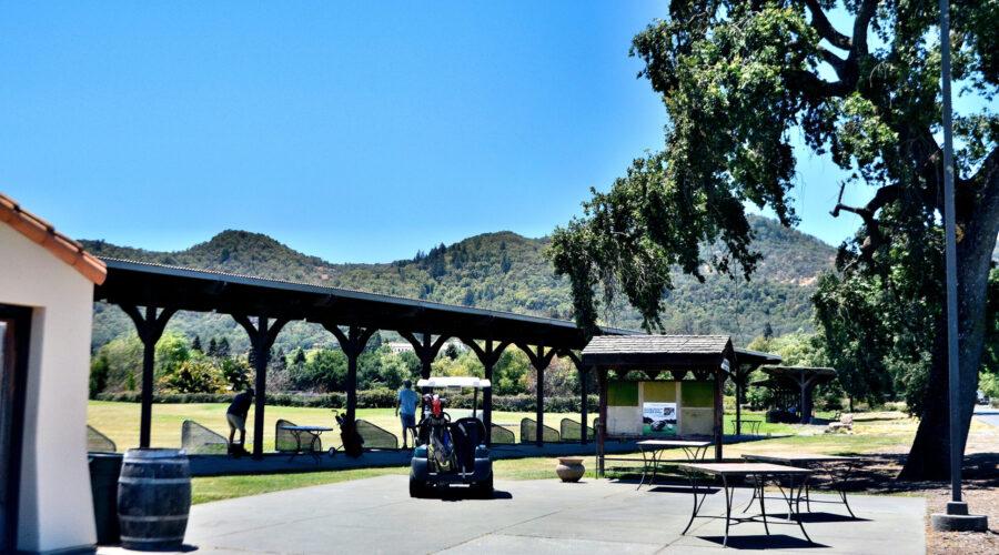 Vintners Golf Club driving range June 2021