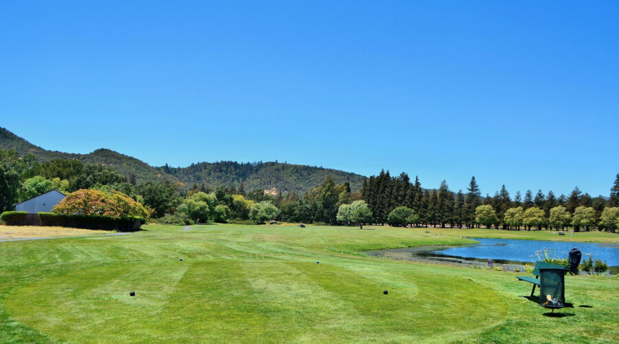 Vintners Golf Club first tee and fairway June 2021