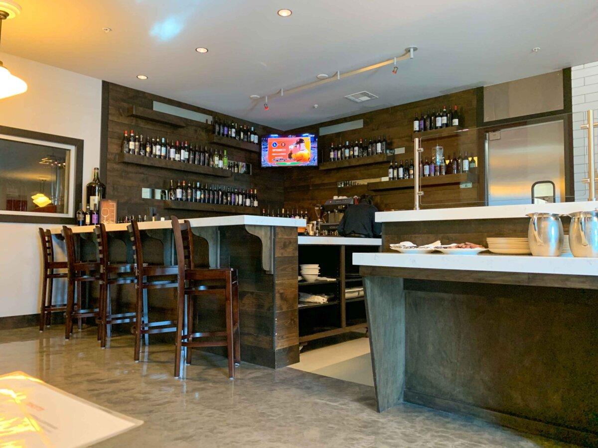 The bar at Trattoria Martone